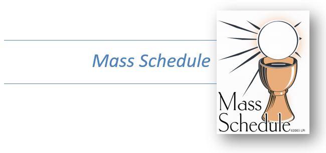 Mass Schedule – Divine Mercy Parish